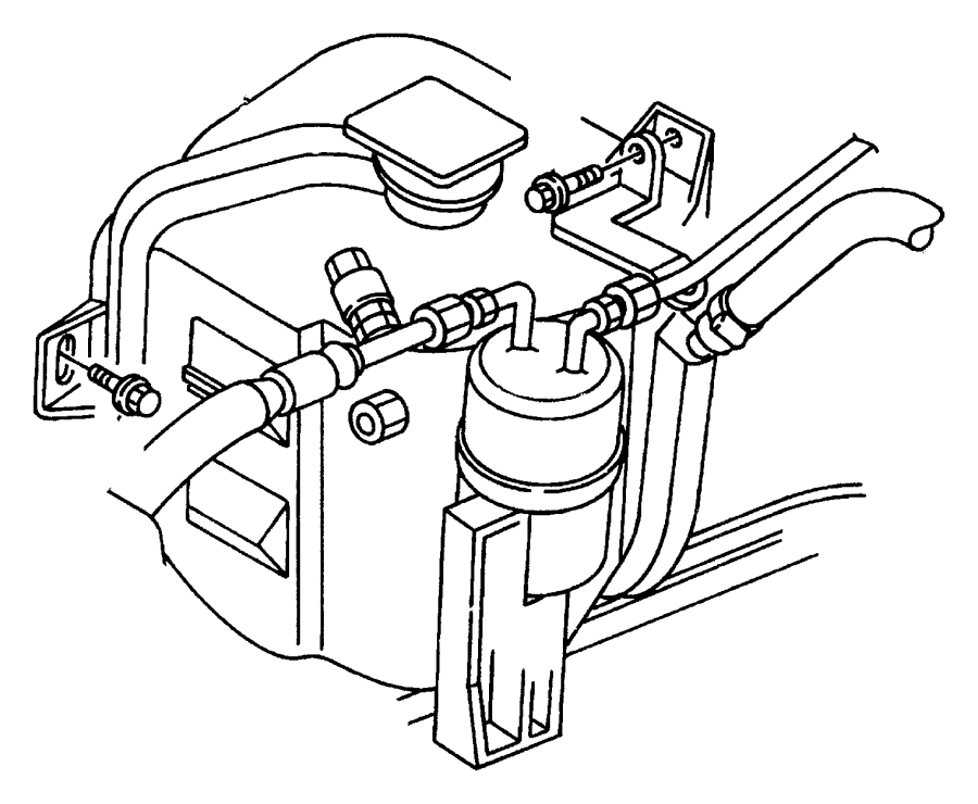 dodge stratus engine coolant reservoir cap  reservoir tank