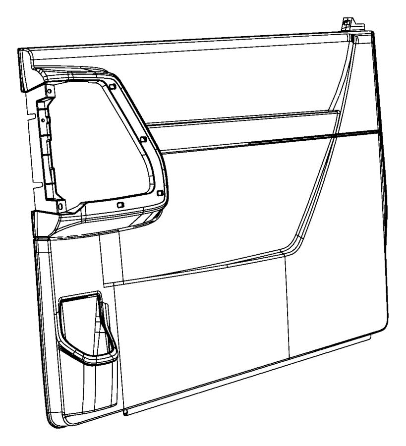 How To Remove Sliding Door Panel On Dodge Caravan: Dodge Grand Caravan Door Trim Panel. SLIDING DOOR TRIM