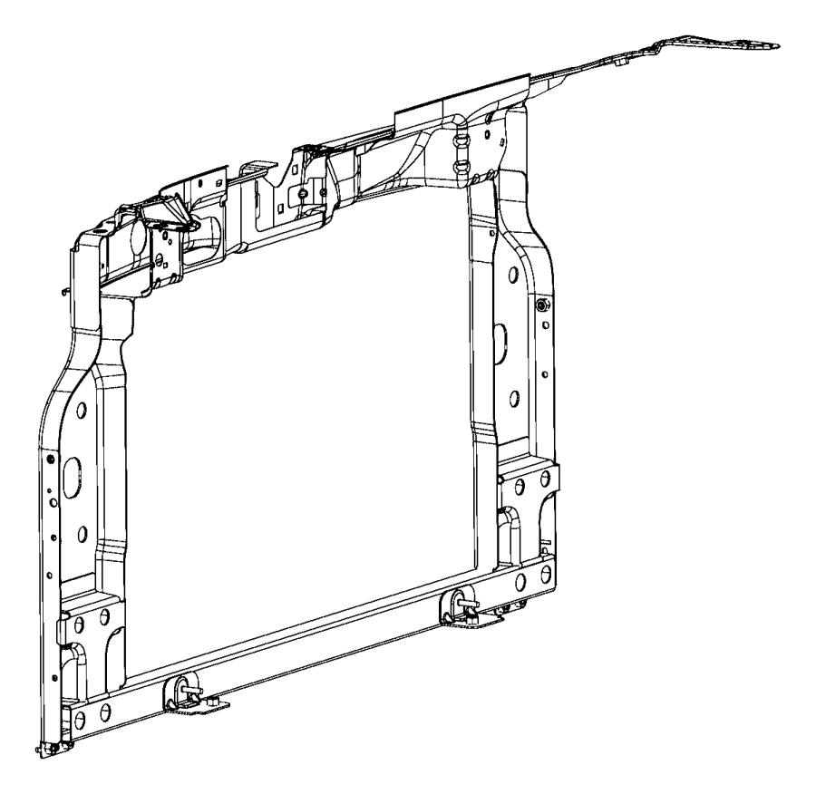 fiat 500 support  panel  radiator  w  abarth  w  o abarth  w