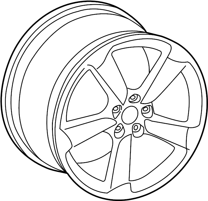 4h0601025ba - wheel  alloy