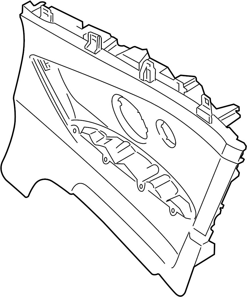 Bmw M4 Lateral Trim Panel Leathe Lower Quarter Trim
