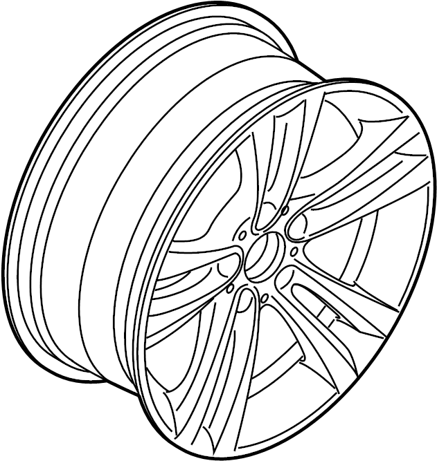 2016 bmw 435i gran coupe light alloy rim ferricgre  wheel