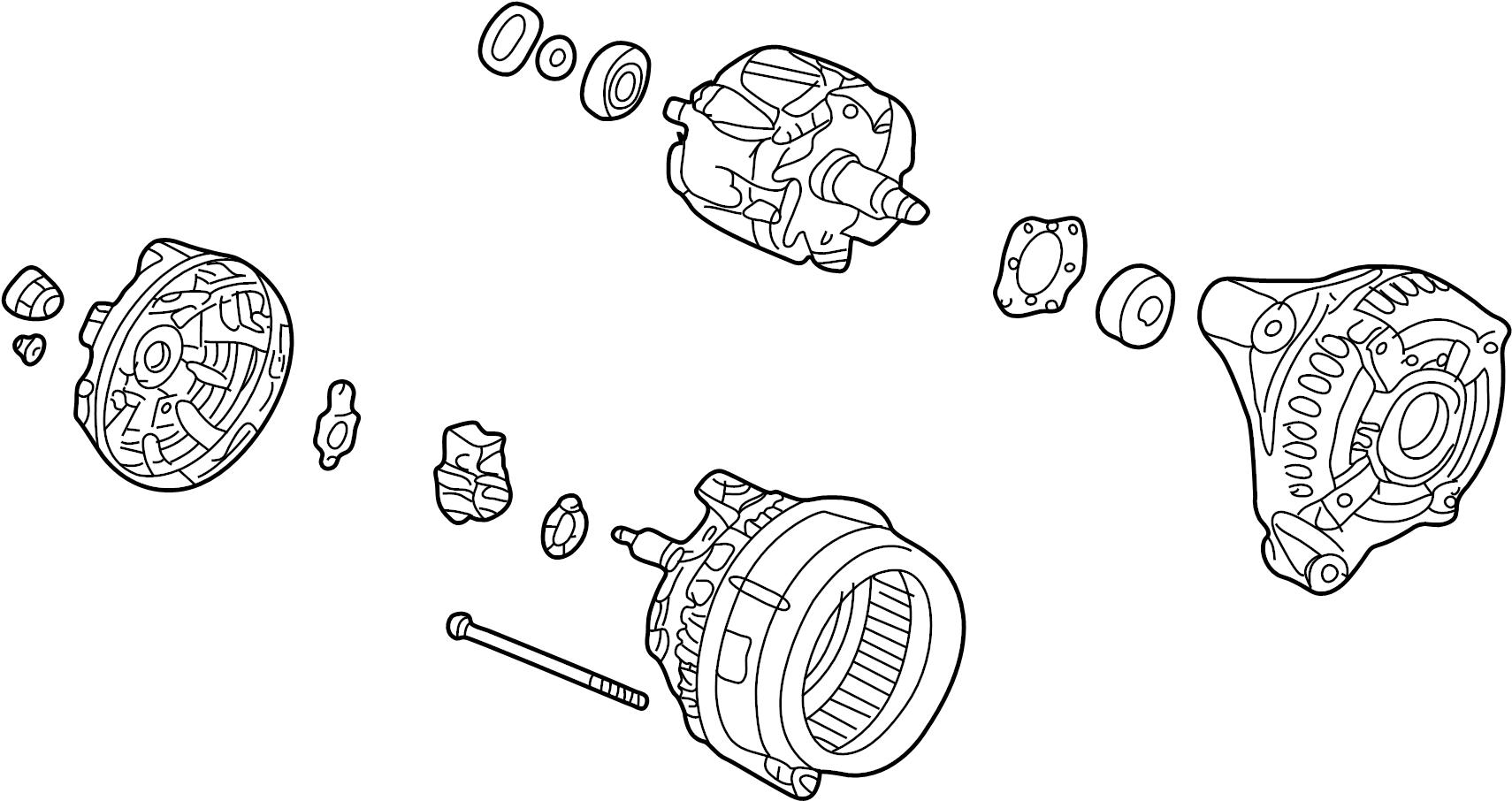 honda pilot ac generator assembly  alternator  csf92   new