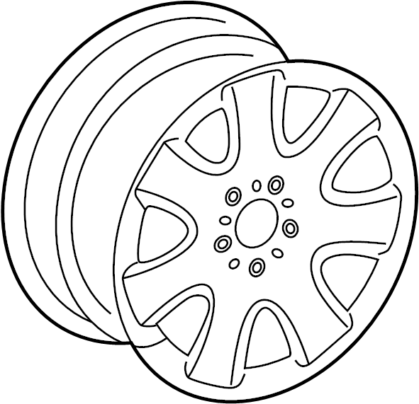 Mercedes Benz C240 Disc Wheel Spare Wheel Wheel Spare