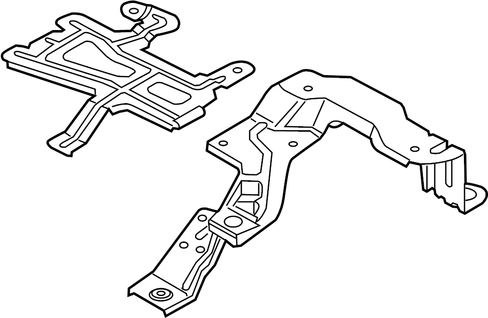 volvo v60 cross country vapor canister bracket assembly  2