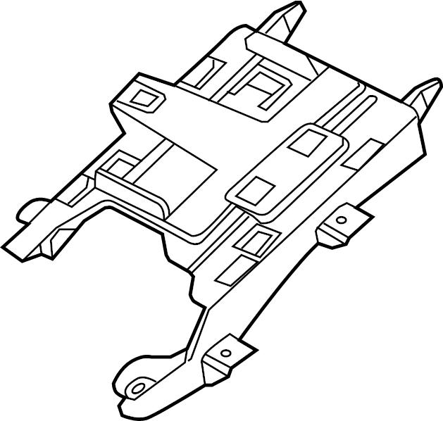 23187710 - active suspension control module bracket  fuel pump driver module bracket