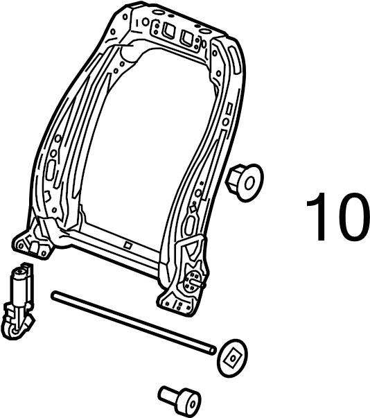 2015 chevrolet malibu actuator  recline motor  retainer
