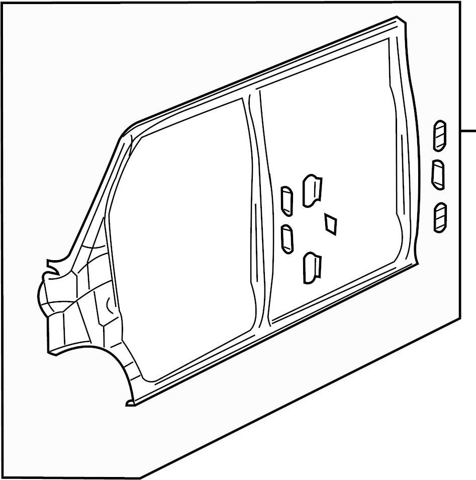 gmc savana 2500 frame  uniside assembly  door  hinged