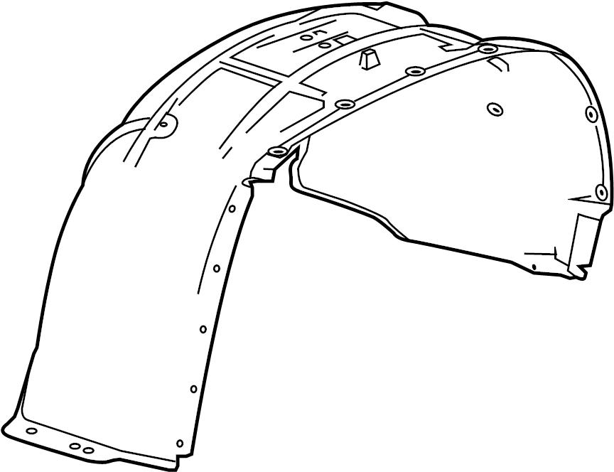 chevrolet suburban shield  liner  fender  suburban  w  o