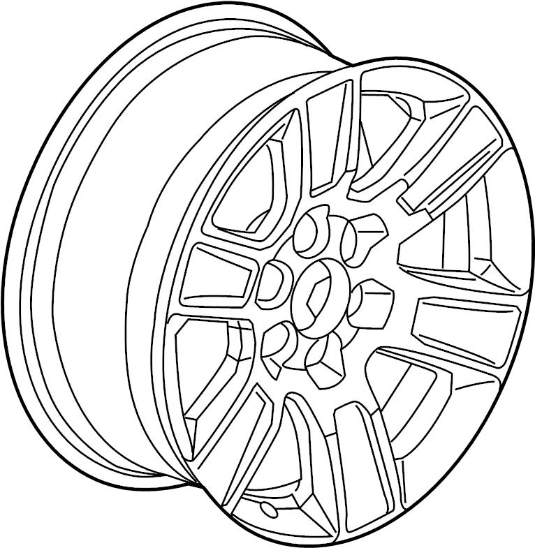 gmc sierra 1500 wheel  alloy  gmc  20  code  rd3  wheels
