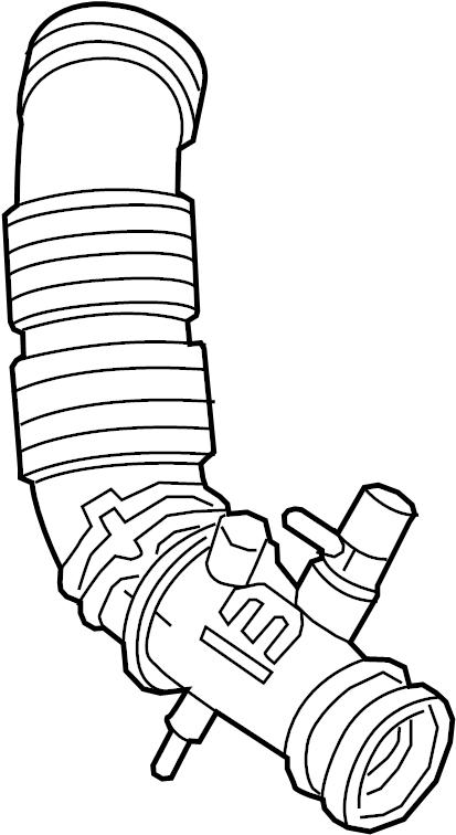 Isuzu Trooper Engine Air Intake Hose  3 2 Liter  1992