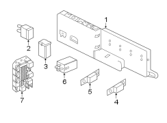 2011 jaguar xj fuse amp mounted underhood xr86387. Black Bedroom Furniture Sets. Home Design Ideas