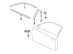 Jim Ellis Chevrolet >> Chevrolet Monte Carlo Door Window Belt Weatherstrip. Left - 10317933 - Genuine Chevrolet Part